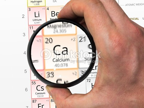 Calcium Symbol Element Of The Periodic Table Zoomed With M Stock