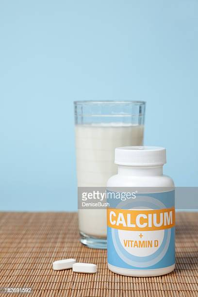 Calcium Tablets and Milk