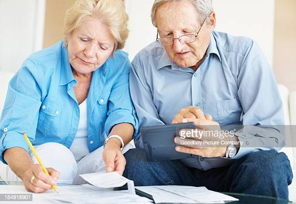 Calculating finances at home
