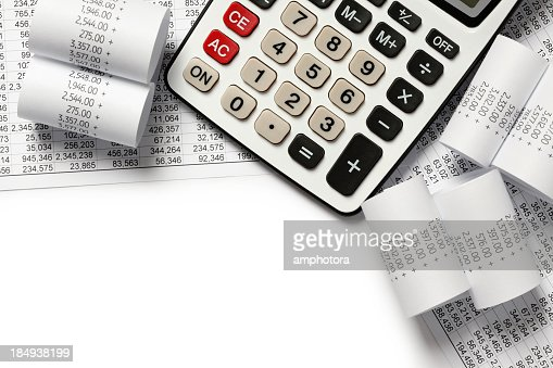 Calculating finances of receipts
