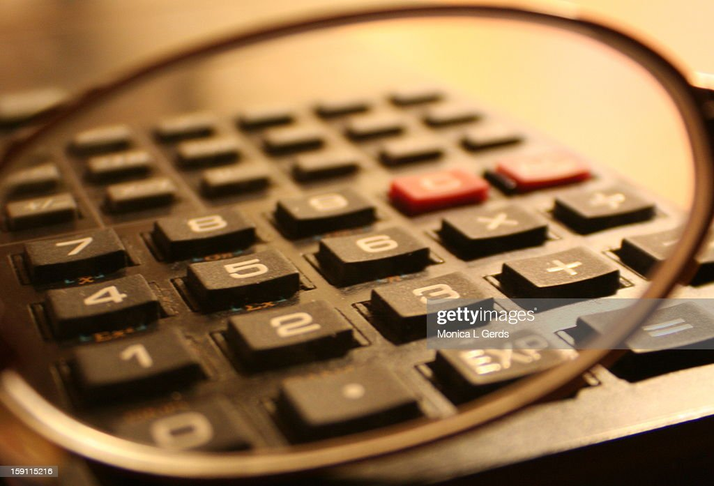 Calculating : Stock Photo