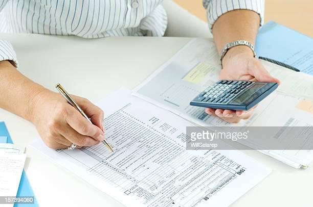 Beim Ausrechnen der Steuern