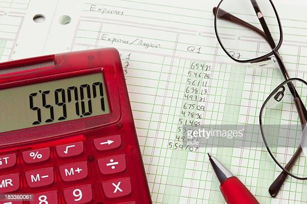 Calculator and expense ledger - Q1