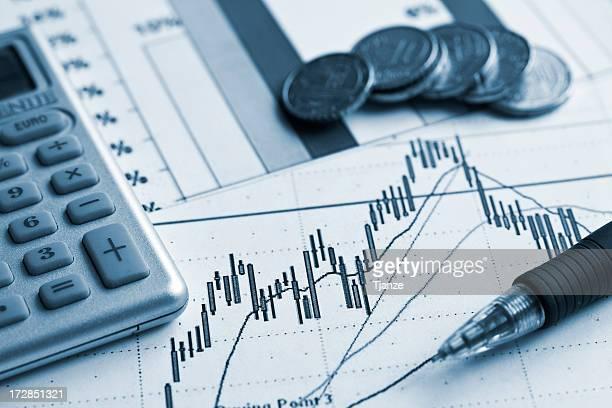 Calculator and financial sheet