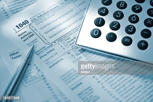 1040 tax form stock photos and pictures getty images for 1040 tax table calculator