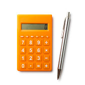 Calculator and pen with path