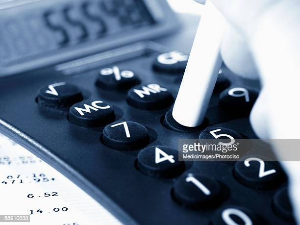 Calculator keys, close-up