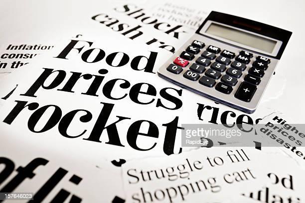 Honorarberechnung für Schlagzeilen: Food Preise rocket