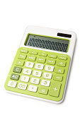 Calculator on whitet background