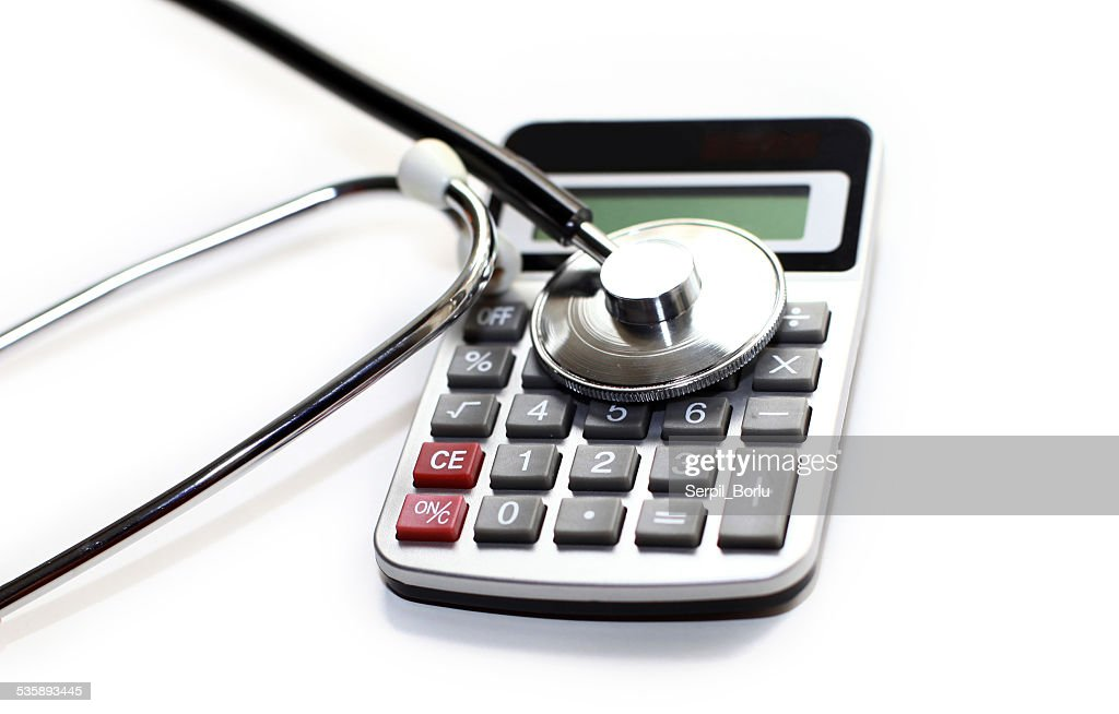 Calcolatrice Stetoscopio : Foto stock