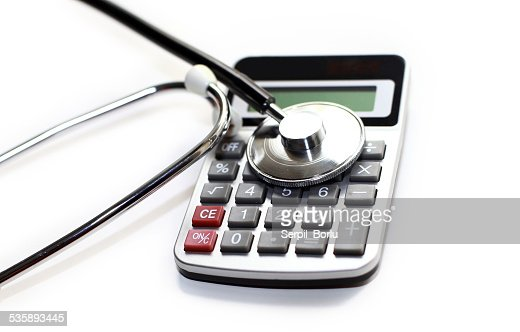 calculator stethoscope : Stockfoto