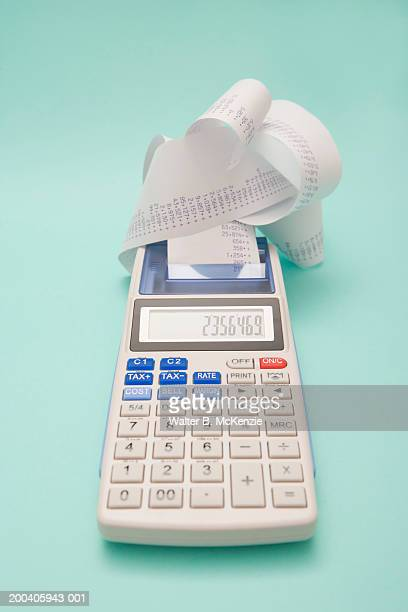 Calculator with paper printout