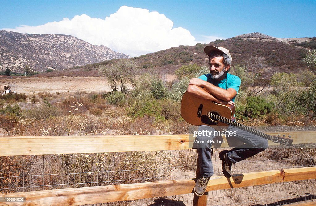J J Cale at home near San Diego, USA, August 1989.