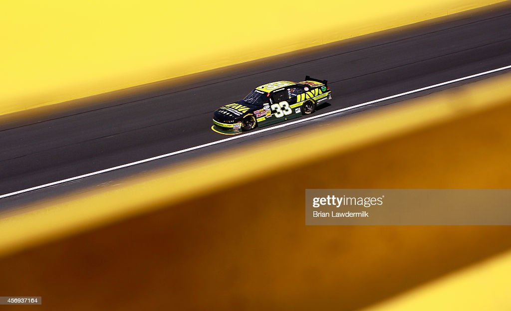 Cale Conley driver of the IAVA Chevrolet practices for the NASCAR Nationwide Series Drive For The Cure 300 presented by Blue Cross Blue Shield of...