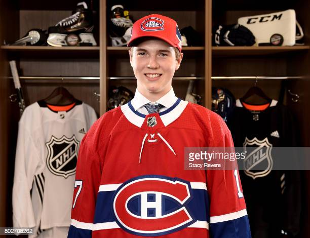 Cale Fleury 87th overall pick of the Montreal Canadiens poses for a portrait during the 2017 NHL Draft at the United Center on June 24 2017 in...