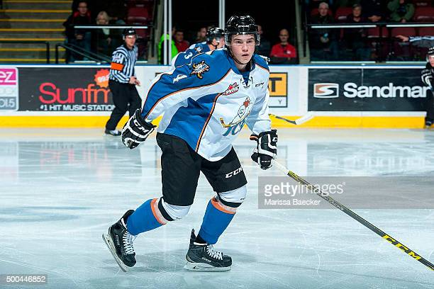 Cale Fleury of Kootenay Ice skates against the Kelowna Rockets on December 2 2015 at Prospera Place in Kelowna British Columbia Canada