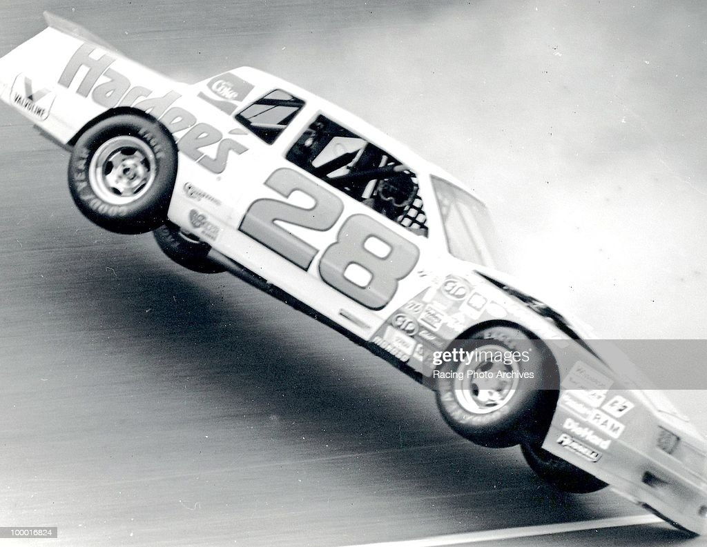 Cale Yarborough flips his car during the Oakwood Homes 500. Yarborough would finish 36th and take home $1,430 for the race.