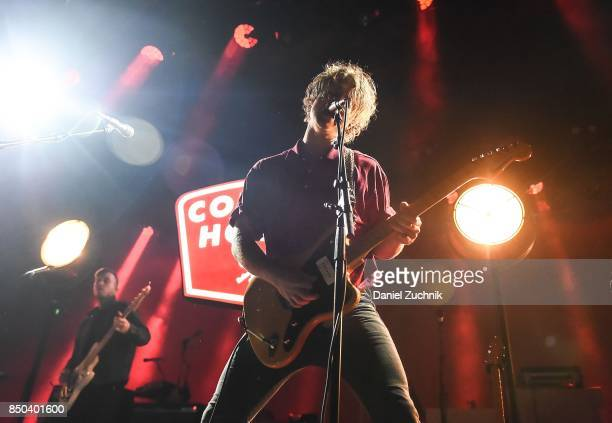 Caleb Chapman of Colony House performs during the Mutemath with Romes and Colony House in Concert at Brooklyn Steel on September 20 2017 in the...