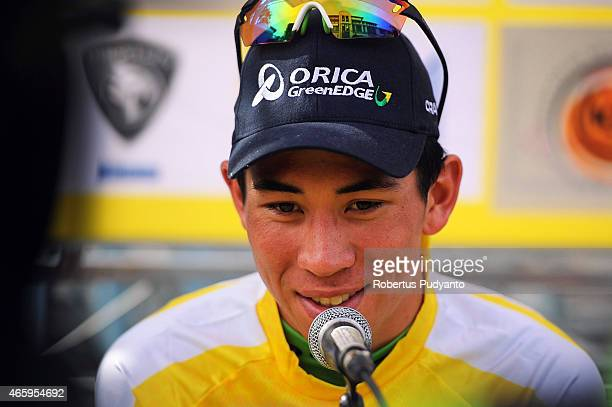 Caleb Ewan of Orica Greenedge speaks during press conference Stage 5 of the 2015 Le Tour de Langkawi from Kuala Terengganu to Kuantan with a distance...