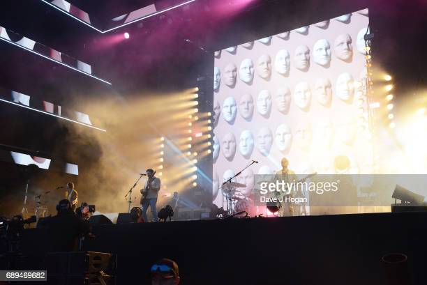 Caleb Followill and Jared Followill of the band Kings of Leon attend Day 2 of BBC Radio 1's Big Weekend 2017 at Burton Constable Hall on May 28 2017...