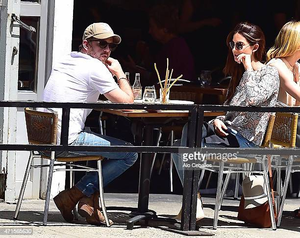 Caleb Followill and Lily Aldridge are seen in the West Village on April 29 2015 in New York City