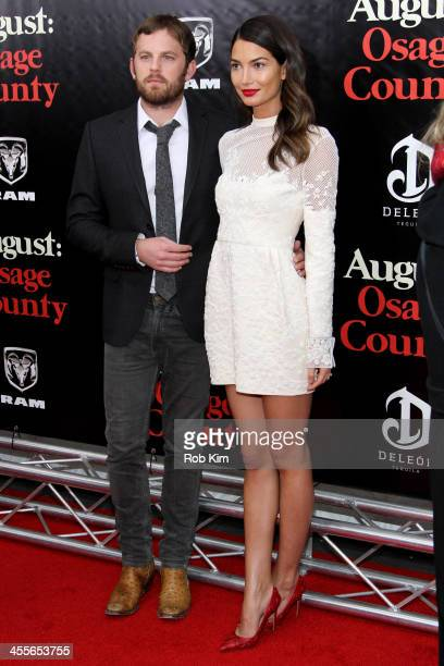 Caleb Followill and Lily Aldridge attend the premiere of AUGUSTOSAGE COUNTY presented by The Weinstein Company with DeLeon Tequila on December 12...