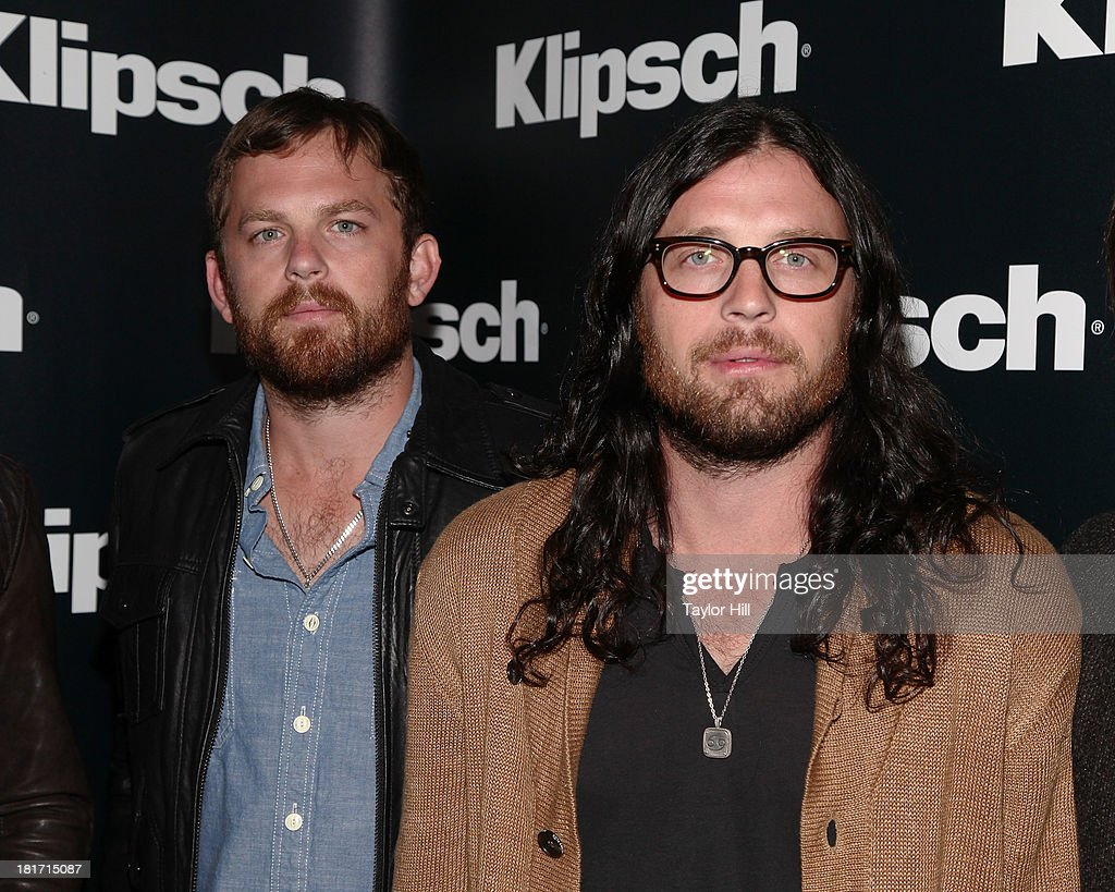 <a gi-track='captionPersonalityLinkClicked' href=/galleries/search?phrase=Caleb+Followill&family=editorial&specificpeople=210594 ng-click='$event.stopPropagation()'>Caleb Followill</a> and <a gi-track='captionPersonalityLinkClicked' href=/galleries/search?phrase=Nathan+Followill&family=editorial&specificpeople=221434 ng-click='$event.stopPropagation()'>Nathan Followill</a> of Kings of Leon attend the Klipsch Audio And Kings Of Leon Host 'Mechanical Bull' Listening Party at the Electric Room at Dream Downtown on September 23, 2013 in New York City.