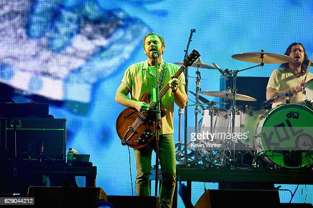 Caleb Followill and Nathan Followilll of the band Kings of Leon perform onstage at 1067 KROQ Almost Acoustic Christmas 2016 Night 1 at The Forum on...