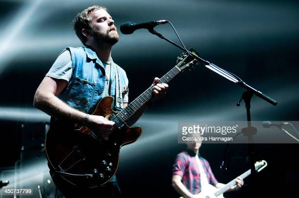 Caleb Followill of band Kings Of Leon perform live for fans at Enmore Theatre on November 20 2013 in Sydney Australia
