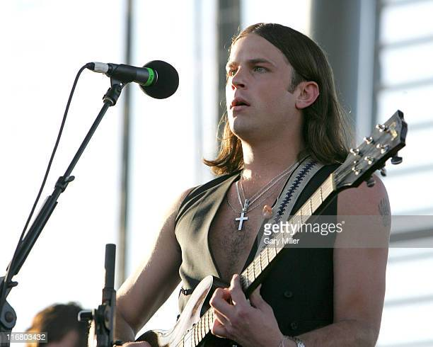 Caleb Followill of Kings of Leon during Coachella Valley Music and Arts Festival Day Two Kings of Leon at Empire Polo Field in Indio California...
