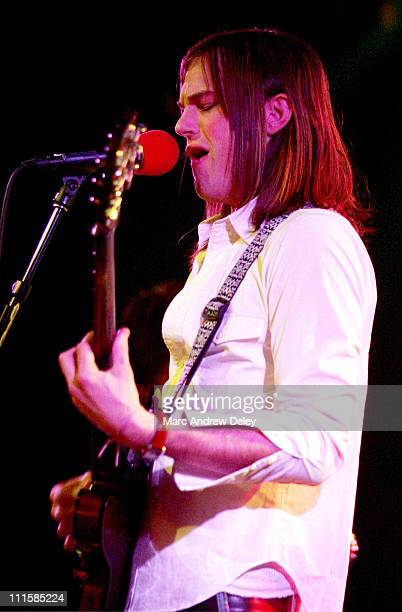 Caleb Followill of Kings of Leon during Kings of Leon in Concert February 27 2005 at Paradise Rock Club in Boston Massachusetts United States