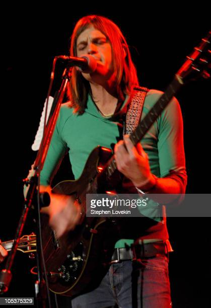 Caleb Followill of Kings of Leon during Kings of Leon in Concert October 5th 2004 at The Bowery Ballroom in New York City NY United States