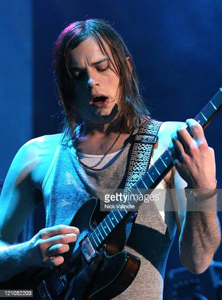 Caleb Followill of Kings of Leon during Kings of Leon in Concert May 20 2005 at The Music Box at the Borgata in Atlantic City New Jersey United States