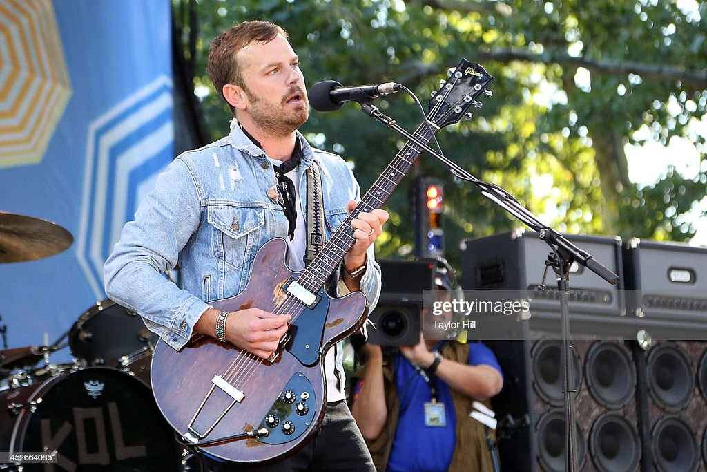 Caleb Followill of Kings of Leon erforms On ABC's 'Good Morning America' at Rumsey Playfield, Central Park on July 25, 2014 in New York City.