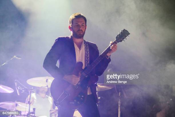 Caleb Followill of Kings Of Leon perform at the First Direct Arena on February 19 2017 in Leeds United Kingdom