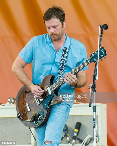Caleb Followill of Kings of Leon perform during the 2017 New Orleans Jazz Heritage Festival at Fair Grounds Race Course on May 7 2017 in New Orleans...