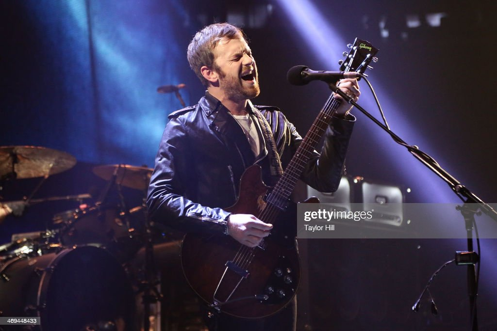 Caleb Followill of Kings of Leon performs at Madison Square Garden on February 14 2014 in New York City