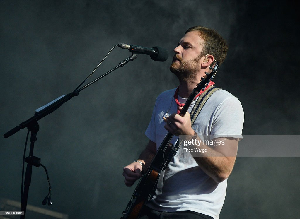 Caleb Followill of Kings of Leon performs at Samsung Galaxy stage during 2014 Lollapalooza Day Three at Grant Park on August 3 2014 in Chicago...