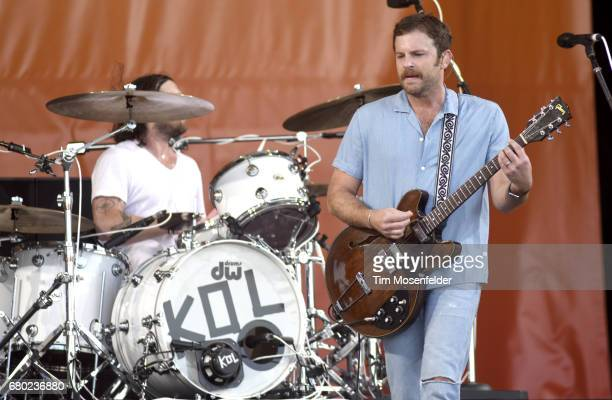 Caleb Followill of Kings of Leon performs during the 2017 New Orleans Jazz Heritage Festival at Fair Grounds Race Course on May 7 2017 in New Orleans...