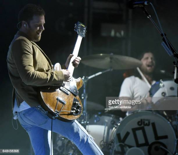 Caleb Followill of Kings of Leon performs during the Okeechobee Music Festival on March 5 2017 in Okeechobee Florida