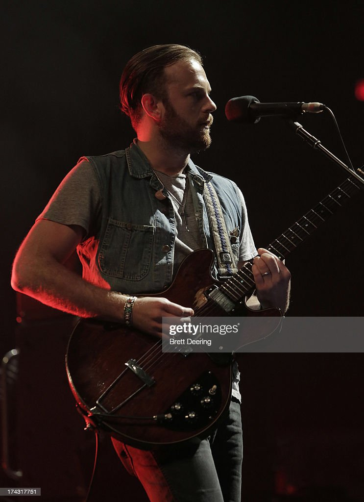 <a gi-track='captionPersonalityLinkClicked' href=/galleries/search?phrase=Caleb+Followill&family=editorial&specificpeople=210594 ng-click='$event.stopPropagation()'>Caleb Followill</a> of Kings of Leon performs during the Rock for Oklahoma Benefit at the Chesapeake Energy Arena on July 23, 2013 in Oklahoma City, Oklahoma.