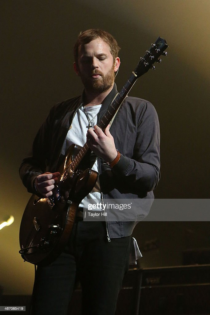 <a gi-track='captionPersonalityLinkClicked' href=/galleries/search?phrase=Caleb+Followill&family=editorial&specificpeople=210594 ng-click='$event.stopPropagation()'>Caleb Followill</a> of Kings of Leon performs in concert during the 'Mechanical Bull' tour at Philips Arena on February 5, 2014 in Atlanta, Georgia.