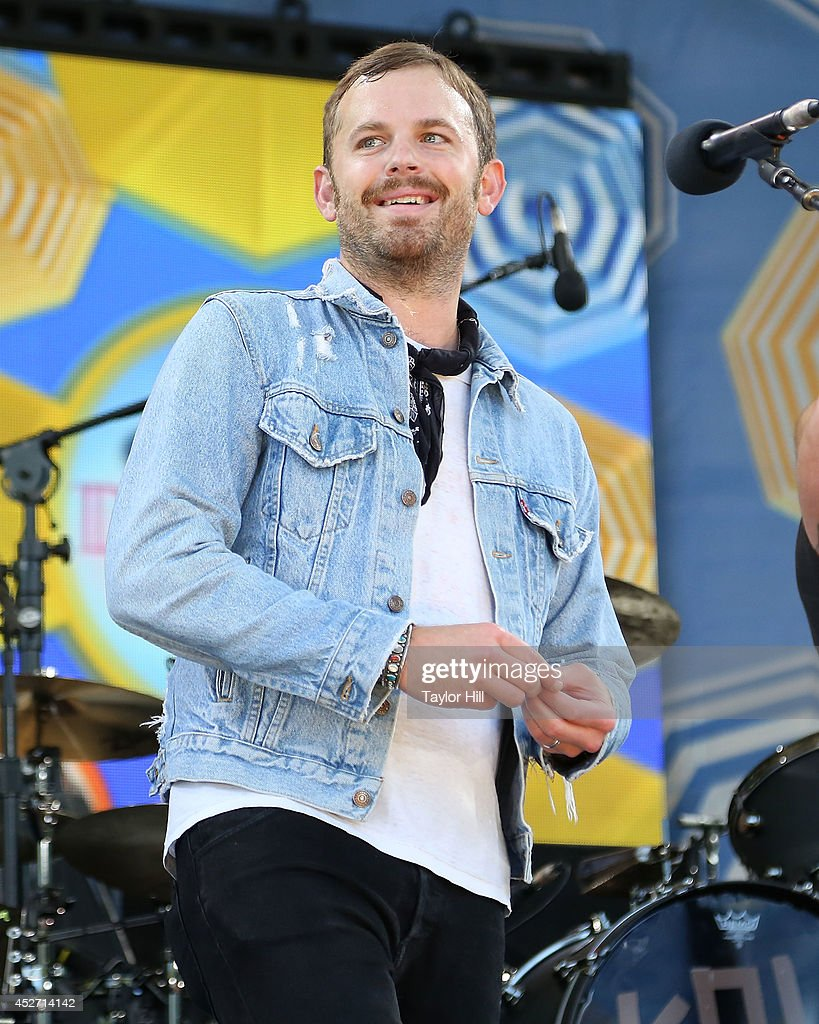 Caleb Followill of Kings of Leon performs on ABC's 'Good Morning America' at Rumsey Playfield, Central Park on July 25, 2014 in New York City.