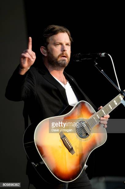 Caleb Followill of Kings of Leon performs on stage at the Barclaycard Presents British Summer Time Festival in Hyde Park on July 6 2017 in London...