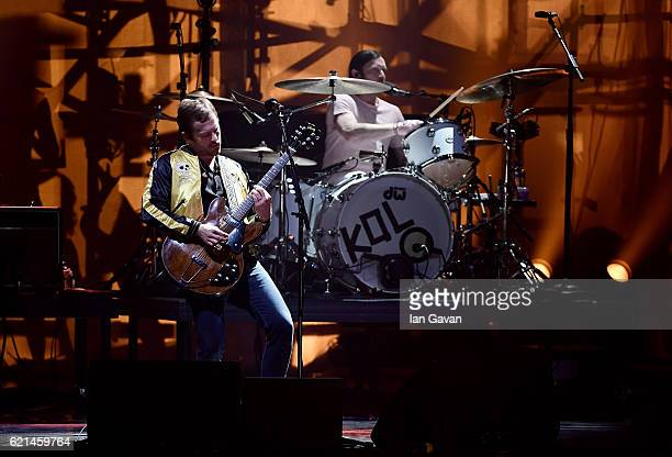 Caleb Followill of Kings of Leon performs on stage at the MTV Europe Music Awards 2016 on November 6 2016 in Rotterdam Netherlands