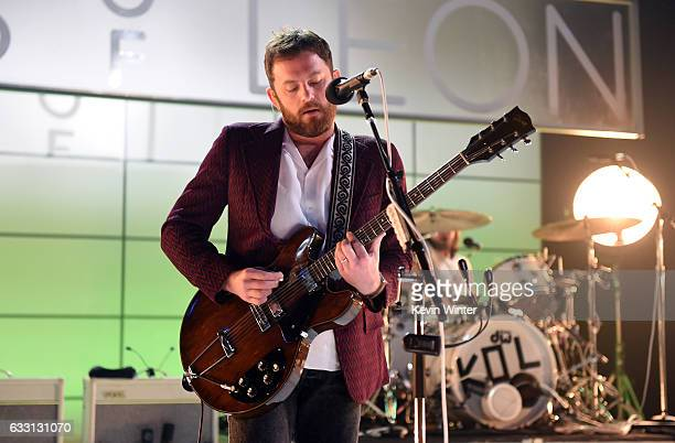 Caleb Followill of Kings Of Leon performs on stage on ATT at iHeartRadio Theater LA on January 30 2017 in Burbank California