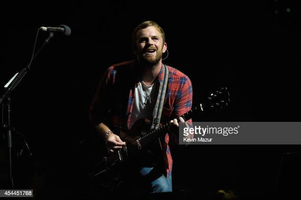 Caleb Followill of Kings of Leon performs onstage at the 2014 Budweiser Made In America Festival at Benjamin Franklin Parkway on August 30 2014 in...