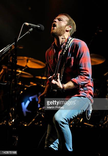 Caleb Followill of the Kings of Leon performs on stage at the Rod Laver Arena on the 13th of November 2011 in Melbourne Australia