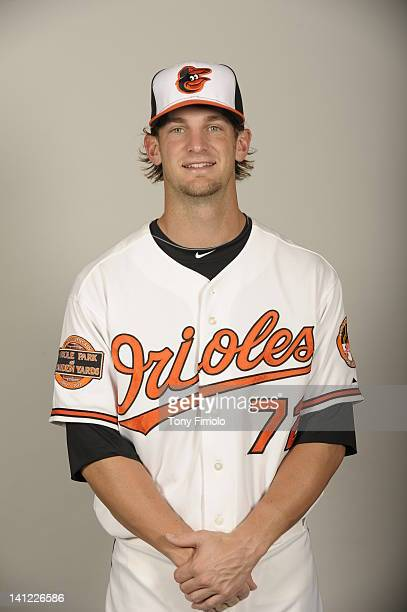 Caleb Joseph of the Baltimore Orioles poses during Photo Day on Thursday March 1 2012 at Ed Smith Stadium in Sarasota Florida