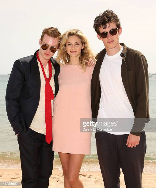 Caleb Landry Jones Callum Turner and Tamsin Egerton attends the 'Queen Country' photocall at the 67th Annual Cannes Film Festival on May 21 2014 in...